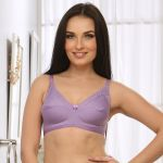 Clovia Cotton Non Padded Non Wired Bra In Purple Br0185q12