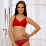 Clovia Non Padded Non Wired Bra In Red Br0185q04