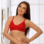 Clovia Soft Cup T-shirt Bra In Red Br0184q04