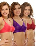 Clovia Polyamide Chic Non-padded Wirefree Bra In Multicolor (product Code - Brc181p50 )