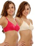 Clovia Cotton Cotton Rich T Shirt Bra With Cross-over Moulded Cups (product Code - Brc242p50 )