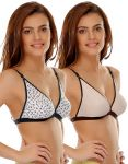 Clovia Cotton Comfy Everyday Printed Cotton Bra (product Code - Brc375p50 )
