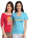 Clovia Pack Of 2 T-shirts-(product Code- Combolt10)