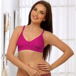 Clovia Soft Cup T-shirt Bra In Hot Pink Br0184q14