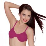 Cloe Cotton Comfort Underwired Bra In Hot Pink Br0065h14