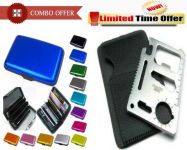Special Combo Offer! Aluminum Wallet Aluma 11 In 1 Survival Tool Kit
