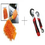 Buy 2 PCs Microfiber Hand Gloves With Free Snap N Grip Wrench Set - Fbr2snp