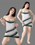 Satin Comfortable To Wear 3/4 Nighty 1 PC