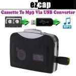 Ezcap Tape Recorder Cassette To USB Mp3, Analog To Digital Audio Converter