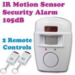 Gadget Hero Wireless IR Infrared Sensor Motion Detector Burglar Alarm