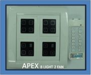 Apex Remote Controlled Touch Switch Board For 8 Lights & 2 Fan