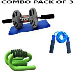 Instafit Power Stretch Roller With Free 1 Mat, 1 Push Up Bar & 1 Jump Rope