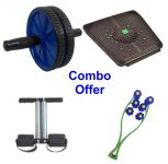 Deemark Combo Pack Of Ab Roller,relief Mate,tummy Trimr & Face Rollar