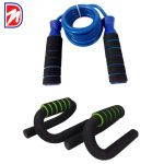 Deemark Push Up Bar With Skipping Rope Combo Offer