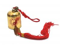Yin Yang Golden Color Metal Mystique Knot Bell For Protection & Prosperity