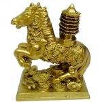Feng Shui Horse With Education Tower For Victory And Luck