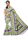 De Marca Green Colour Cotton Saree (product Code - Tsmrcc357)