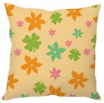 Flower And Leaf Print Cushion Cover