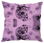 Stybuzz Mauve Floral Abstract Art Purple Cushion Cover