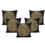 Stybuzz Brown Embroidered Cushion Covers - Set Of 5 - (product Code - Embr000034)