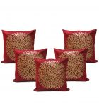 Stybuzz Black Embroidered Cushion Covers - Set Of 5 - (product Code - Embr000035)