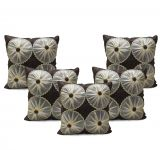 Stybuzz Rust Embroidered Cushion Covers - Set Of 5 - (product Code - Embr000042)