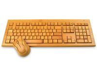 Handcrafted Wireless Bamboo Keyboard And Mouse - Eco-friendly