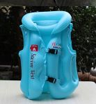 Swim Jacket Kids Children Inflatable Swim Vest Jacket With 3 Valves 2 Quick Release Buckles - For Swimming, Water Sports