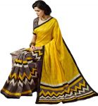 Styloce Yellow Bhagalpuri Saree