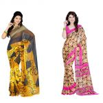 Styloce Set Of 2 Georgette Saree Combo . Sty-8797-8841