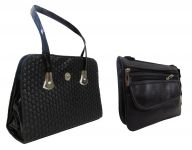 Estoss Buy 1 Get 1 - Black Handbag & Black Multi-pocket Sling Bag