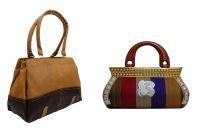 Estoss Brown Handbag And Multicolor Clutch Combo Of 2