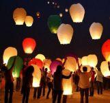 Sky Lantern Paper Lamp Light Wish Candle Light Parachute Hot Balloon Pack Of 6