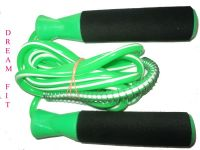Dreamfit Green & Black Skipping Ropes With Bearing And Spring