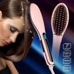 Hqt-906 Fast Hot Hair Straightener Comb Brush LCD Screen Flat Iron Styling