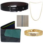 Sondagar Arts Latest Belt Wallet Bracelet Chain Handkerchief Combo Offers For Men
