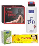 St.john-vijohn Women Care Kit (hair Remover Sandal & Turmeric Cream Fairness Cream & Deo Vijohn Pure & Perfume Dare Davil)-(code-vj459)