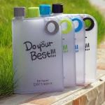 Do Your Best Notebook Bottle Bpa Free-- Flat Portable Cup 380 Ml Water Bottle