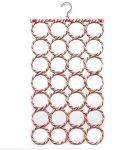 Unique Cartz 28-hole Ring Rope Slots Holder Hook Scarf Wraps Shawl Storage Hanger