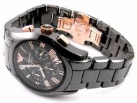 Armani Round Black Resin Watch For Men_code-ar1410