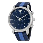 Imported Emporio Armani Ar 1949 Luigi Navy Blue Dial Men