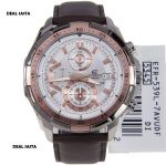 Casio Edifice 539 Efr White And Copper Dial With Brown Strap Watch For Men
