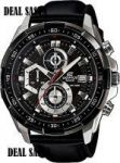 Casio Edifice 539 Efl New Arrival With Leather Strap