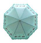 Fashblush Polka Dots Frill Affair 2 Fold Umbrella(green, Black, Brown) (product Code Fb62032)