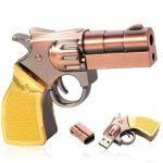 Gun Golden Metal Shape Fancy Pendrive 8GB (with Manufacturer Warranty)