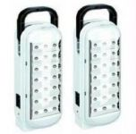 Omrd Set Of 2 Dp 21 LED Emergency Light 5 Hrs Backup