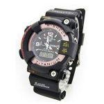 Mens Dual Time Analog Sports Wrist Watch - Titanium Wrist Watch