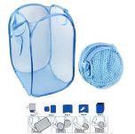 Omrd Set Of 2 - Foldable Laundry Bag Basket With Mesh Fabric Pocket