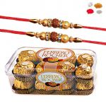 Rakhi Chocolate Hamper - Rakhis With 16pc Ferrero Rocher Chocolates For Brother - Raksha Bandhan 2017