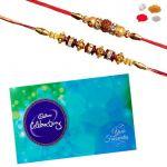 Rakhis Chocolate - 2 Rakhis With Celebration Online - Gift Hamper